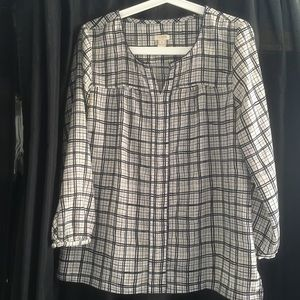Jcrew plaid blouse